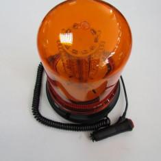 Girofar cu magnet 120 LED Portocaliu 12V - Girofar Auto