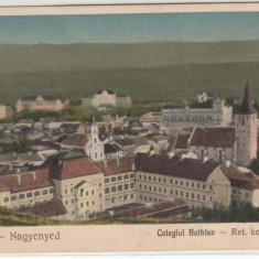 AIUD, COLEGIUL BETHLEN CIRCULATA - Carte Postala Transilvania 1904-1918, Printata