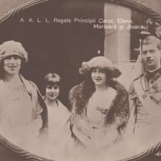 A.A.L.L. REGALE  PRINCIPII  CAROL,  ELENA,  MARIOARA SI ILEANA , FOTO ROYAL, Necirculata, Fotografie