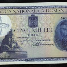 5000 LEI - 31 MARTIE 1931 - SUPRATIPAR - UNC - Bancnota romaneasca