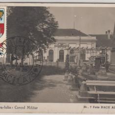 ALBA IULIA, CERCUL MILITAR, NO.7 FOTO BACH ALBA IULIA 1931, STAMPILA 1934 - Carte Postala Transilvania dupa 1918, Circulata, Fotografie