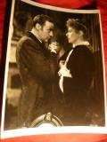 Fotografie-Cinema -Lampa de Gaz - Ch.Boyer si Ingrid Bergmann  -19 x25,7  cm