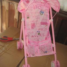Carucior de jucarie - Carucior papusi Barbie, 2-4 ani, Metal, Roz, Fata