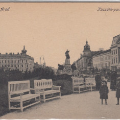 ARAD, KOSSUTH PARK - Carte Postala Crisana 1904-1918, Necirculata, Printata