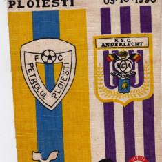 Fanion fotbal PETROLUL Ploiesti - ANDERLECHT 03.10.1990 Cupa UEFA