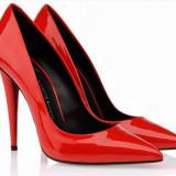 Pantofi stiletto Giuseppe Zanotti MIRROR - PE STOC - Super Promotie!!! - Pantof dama Giuseppe Zanotti, Culoare: Rosu, Marime: 38, Piele naturala, Cu toc