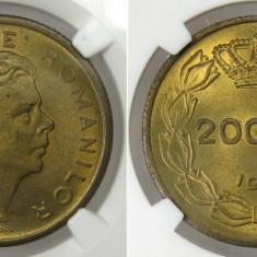 Romania 200 Lei 1945 NGC MS 63 Piesa de colectie ! - Moneda Romania