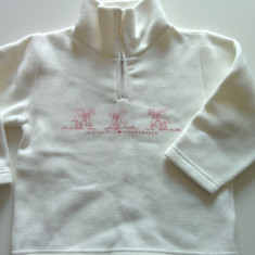 Bluza, bluzita pentru copii, ideala iarna, de ski, Iana, 3-5 ani, pola, antifrig, Culoare: Alb, Fete