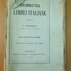 Gramatica limbii italiene O. Spinazzola Bucuresti 1862 - Curs Limba Italiana