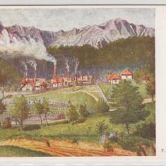 AZUGA, VEDERE DIN AZUGA - Carte Postala Muntenia 1904-1918, Necirculata, Printata