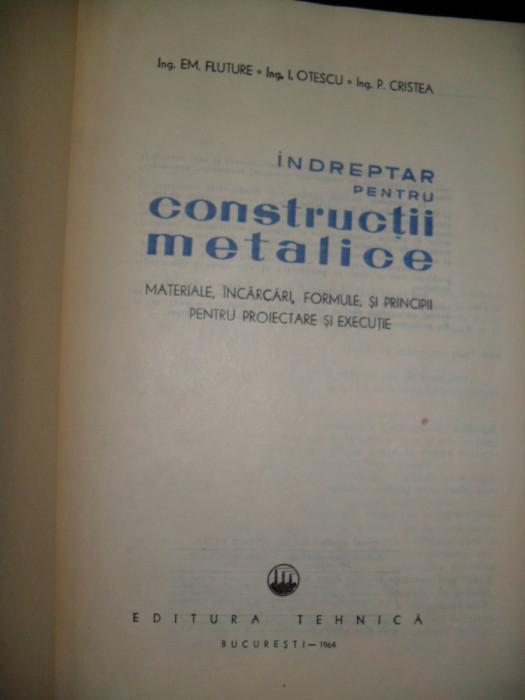 Indreptar pentru constructii metalice Em. Fluture