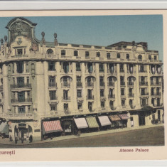 BUCURESTI, ATHENEE PALACE - Carte Postala Muntenia 1904-1918, Necirculata, Printata