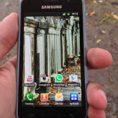 Samsung Galaxy S Plus - Telefon mobil Samsung Galaxy S Plus, Negru, 1.5GB, Neblocat
