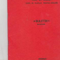 Bnk fil Filiala AFR Bucuresti grupa filatelie tematica angajata buletin 1/1986