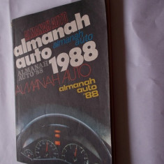 ALMANAH AUTO  ANUL 1988