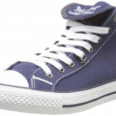 Adidasi Levis Originali-adidasi inalti-unisex-tenisi panza-in cutie-40, 41 - Tenisi barbati Levi S, Culoare: Albastru, Textil