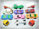 LOT 12 MAȘINUȚE VECHI / MACHETE METALICE - MATCHBOX, MAJORETTE, HOT WHEELS, ETC!, 1:100