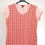 Tricou fete, roz, cu model - Tricou dama, Marime: XL, Maneca scurta, Bumbac