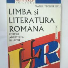 LIMBA SI LITERATURA ROMANA PENTRU ADMITEREA IN LICEU - Manual scolar, Clasa 8