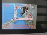 YEMEN  YAR 1972 OLIMPIADA SAPPORO 72 COLITA STAMPILATA, Stampilat