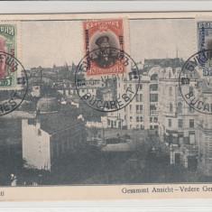 BUCURESTI, VEDERE GENERALA - Carte Postala Muntenia 1904-1918, Necirculata, Printata