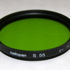 Filtru verde Heliopan 55 mm - Filtru foto