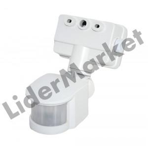 Senzor de miscare cu infrarosu, reglabil - unghi de detectare 180°
