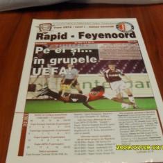 Program Rapid - Feyenoord - Program meci