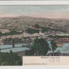 NASAUDUL, VEDERE TOTALA, ED. M. ONISOR, NASAUD - Carte Postala Transilvania 1904-1918, Necirculata, Printata