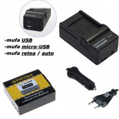 PATONA   Incarcator 4in1 USB + Acumulator pt Camera Sport HD SJ4000 SupTig3 - Baterie Aparat foto