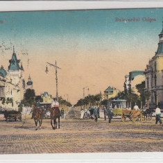 BUCURESTI, BULEVARDUL COLTEA - Carte Postala Muntenia 1904-1918, Circulata, Printata