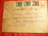 Plic circulat , recomandat Bicaz- Neamt - la comuna Cotesti , cu steme fara stea