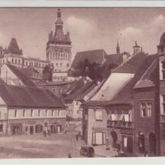 SIGHISOARA, PIATA PRINCIPALA - Carte Postala Transilvania 1904-1918, Necirculata, Printata