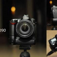 Nikon D90 body + grip - Aparat Foto Nikon D90, Kit (cu obiectiv)