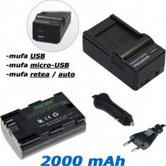 PATONA | Incarcator 4in1+ Acumulator Premium pt Canon LPE6 LP E6 7D 5D Mark II - Incarcator Aparat Foto