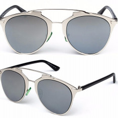 Ochelari Rotunzi similari cu Dior - protectie UV400 - unisex - Ochelari de soare Dior, Negru, Metal, Protectie UV 100%