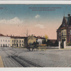 SIBIU, STATIE DE TRAMVAI ELECTRIC, CIRCULATA SEP. 1946 - Carte Postala Transilvania dupa 1918, Printata