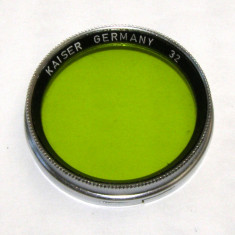 Filtru verde Kaiser 32mm - Filtru foto
