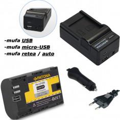 PATONA | Incarcator 4in1 USB + Acumulator compatibil Canon LP-E6 LPE6 7D 5D 70D - Incarcator Aparat Foto
