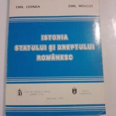 Istoria statului si dreptului romanesc / Emil Cernea si Emil Molcut / C54P - Carte Istoria dreptului