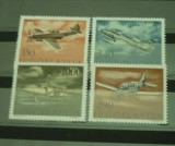 IUGOSLAVIA 1978 – AVIOANE, serie nestampilata, R21, Nestampilat