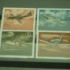 IUGOSLAVIA 1978 – AVIOANE, serie nestampilata, R21