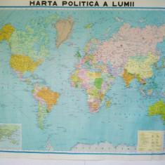 Harta politica a lumii - Ed. Didactica si pedagogica - 1990