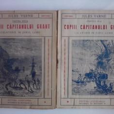 Copiii capitanului Grant-partile II si III (carti vechi) / Jules Verne / C56P - Carte de aventura