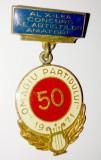 Insigna Omagiu Partidului 1971 - Al X-lea congres al artistilor amatori, Romania de la 1950