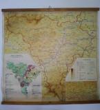 Harta Economica a judetului Alba - RSR