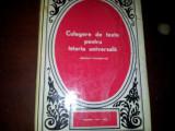 CULEGERE DE TEXTE PENTRU ISTORIA UNIVERSALA - EPOCA MODERNA