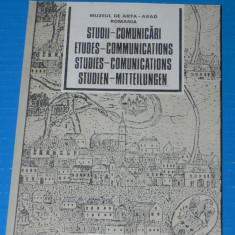 STUDII SI COMUNICARI - MUZEUL ARAD - pictura, arhitectura etc nr 1 - 1992 - Carte Arta muzicala