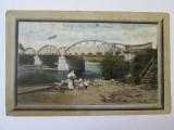 RARA! CARTE POSTALA TARGU-JIU PODUL FERDINAND 1913, Targu Jiu, Circulata, Printata