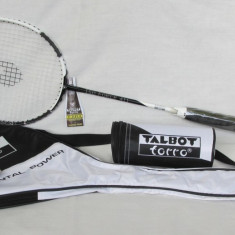 Racheta Badmington profesionala TALBOT TORRO IF 411 cu husa si trei mingi - Racheta tenis de camp